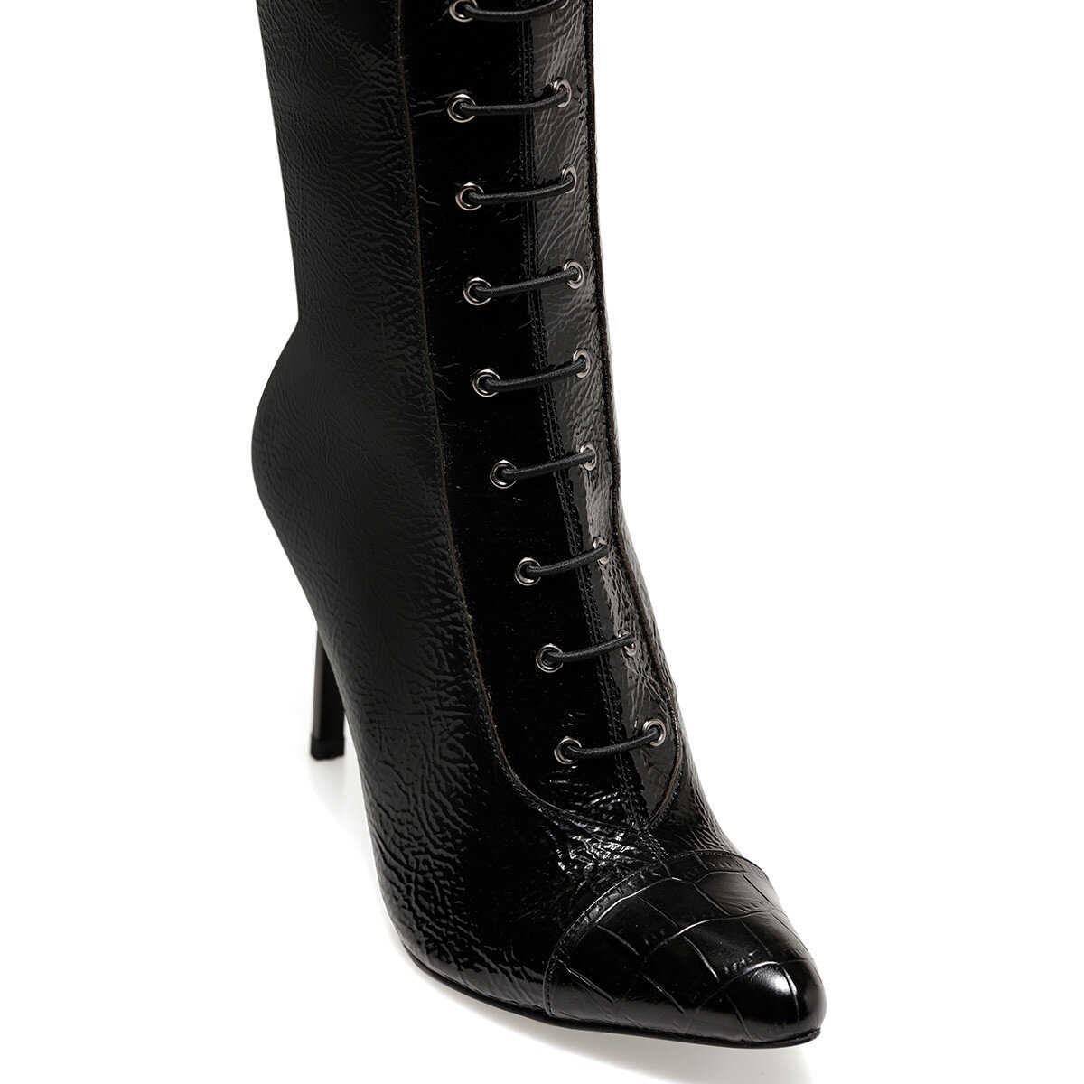 PIPPA2 Siyah Kadın Topuklu Çizme