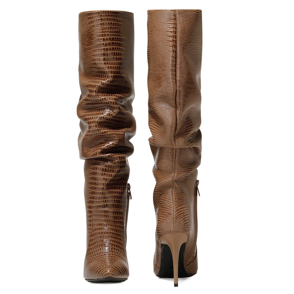 SISSO Vizon Kadın Topuklu Çizme