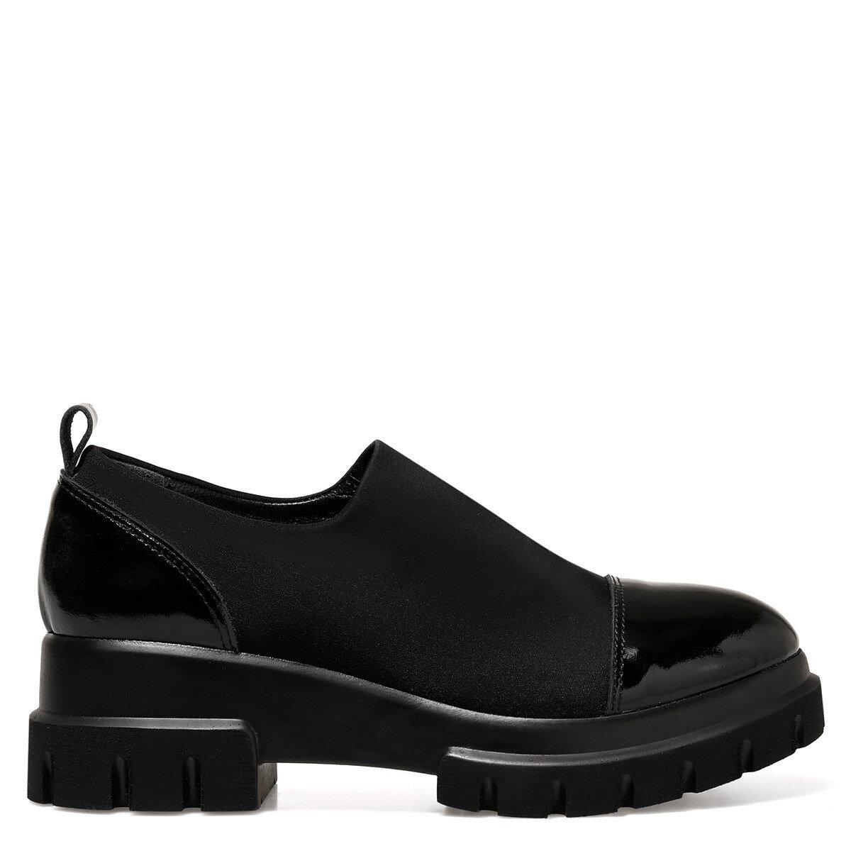 GATONA Siyah Kadın Dolgu Topuk Ayakkabı
