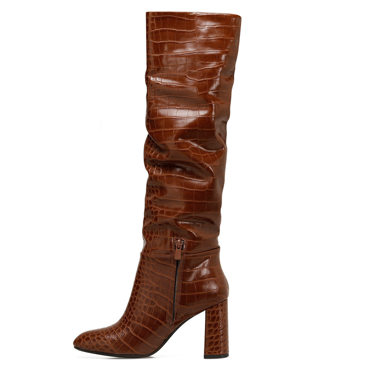 STELIO Taba Kadın Topuklu Çizme
