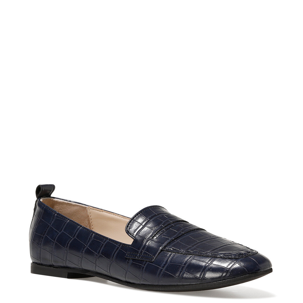 LEFUR2 Lacivert Kadın Loafer Ayakkabı