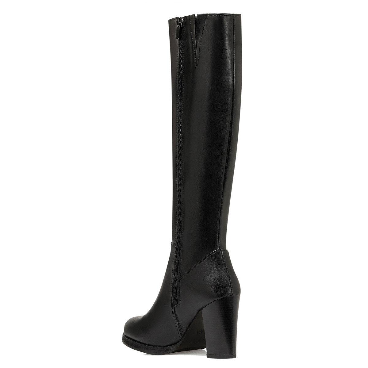 GIZMY Siyah Kadın Topuklu Çizme