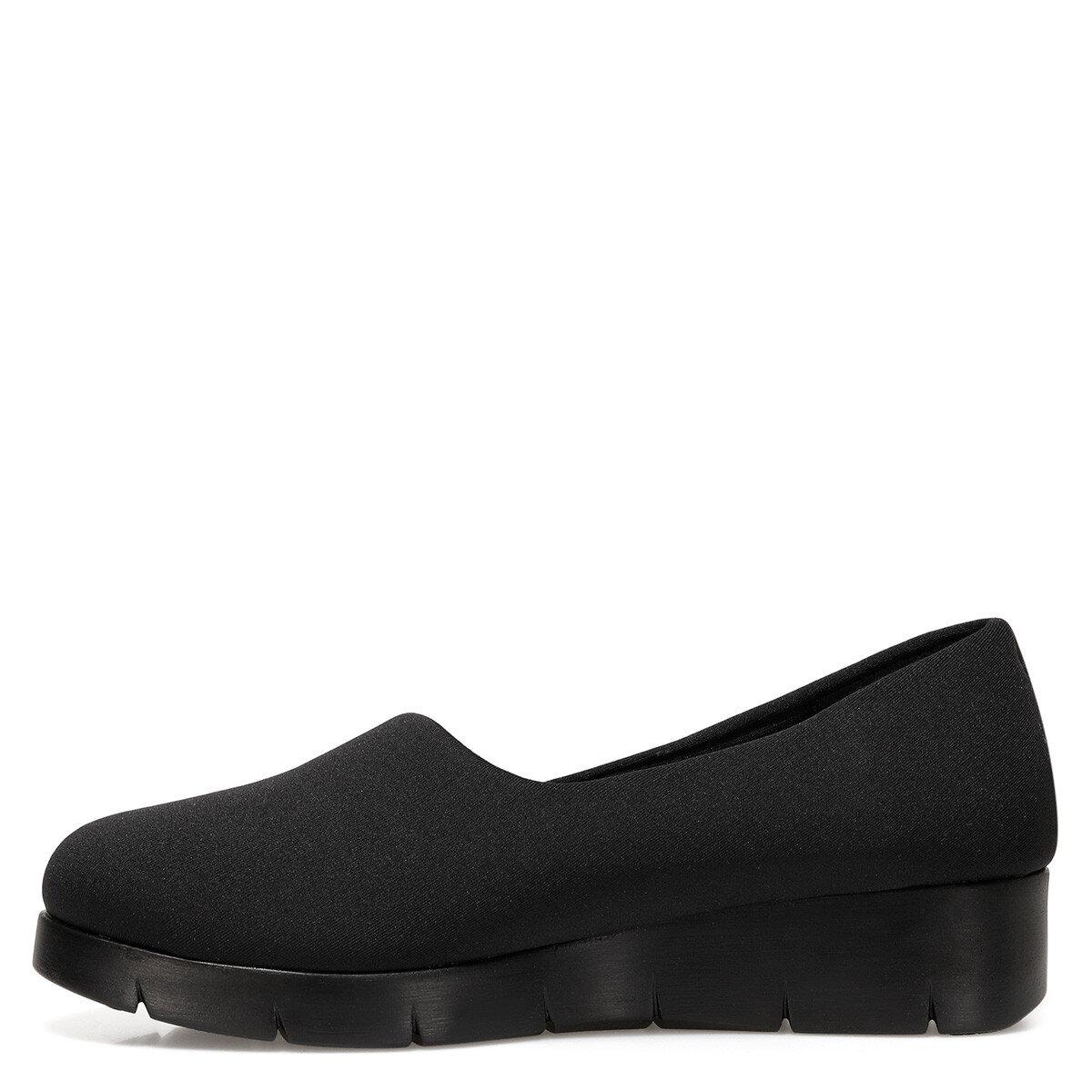 FALAW Siyah Kadın Dolgu Topuk Ayakkabı