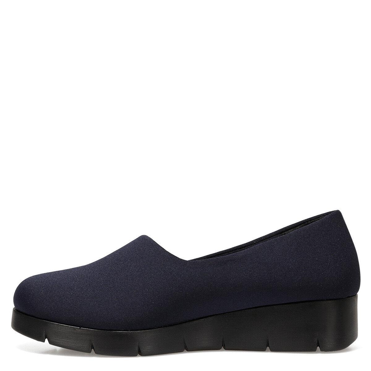 FALAW Lacivert Kadın Dolgu Topuk Ayakkabı