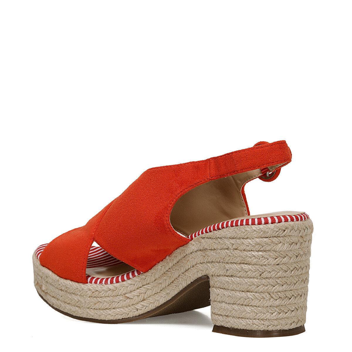 NORMINA Turuncu Kadın Dolgu Topuklu Sandalet