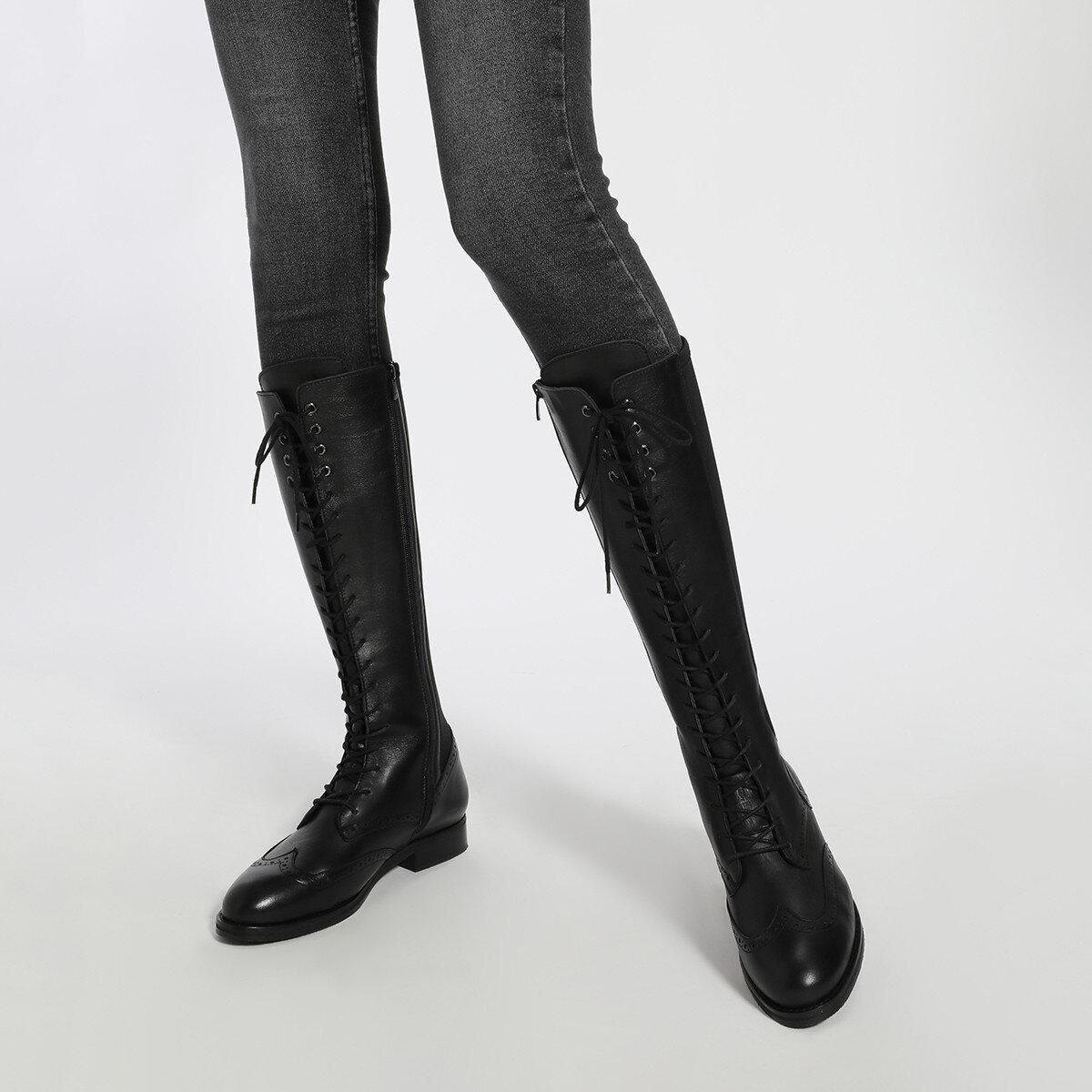 MONTE Siyah Kadın Çizme