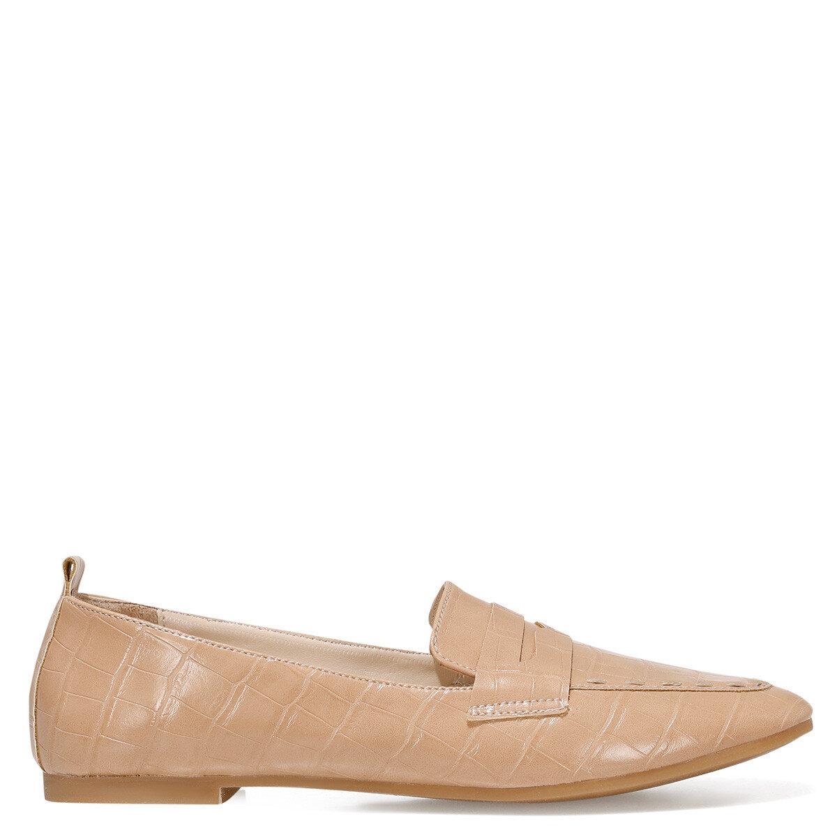 LEFUR2 Bej Kadın Loafer Ayakkabı
