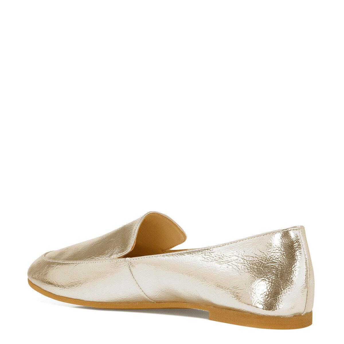 LEFUR Altın Kadın Loafer