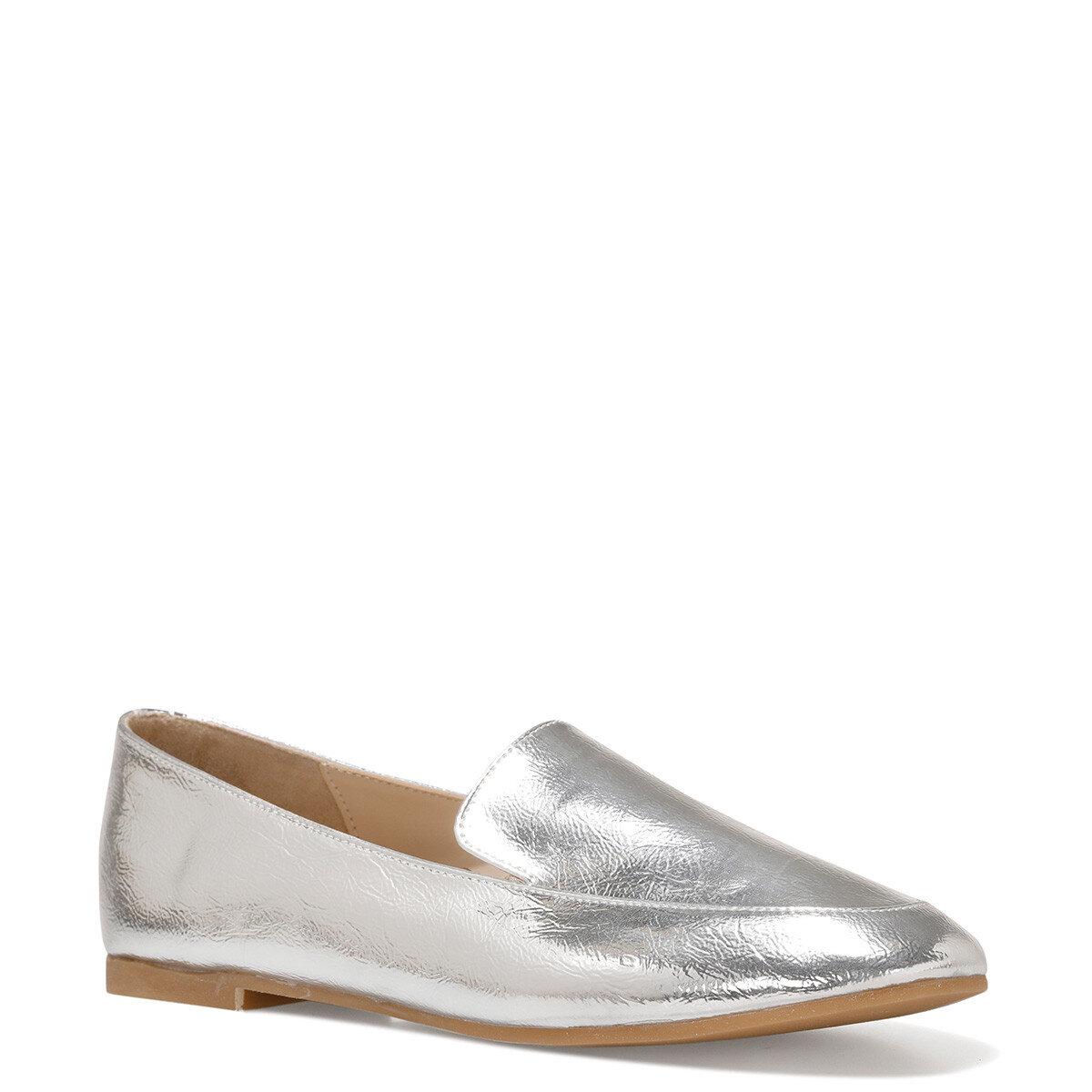 LEFUR Gümüş Kadın Loafer