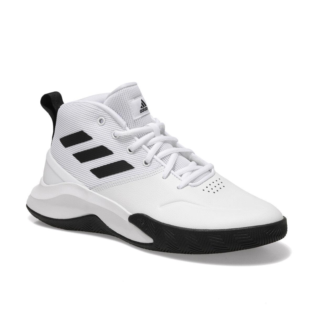 adidas OWNTHEGAME Beyaz Erkek Basketbol Ayakkabısı 100663970 | Flo