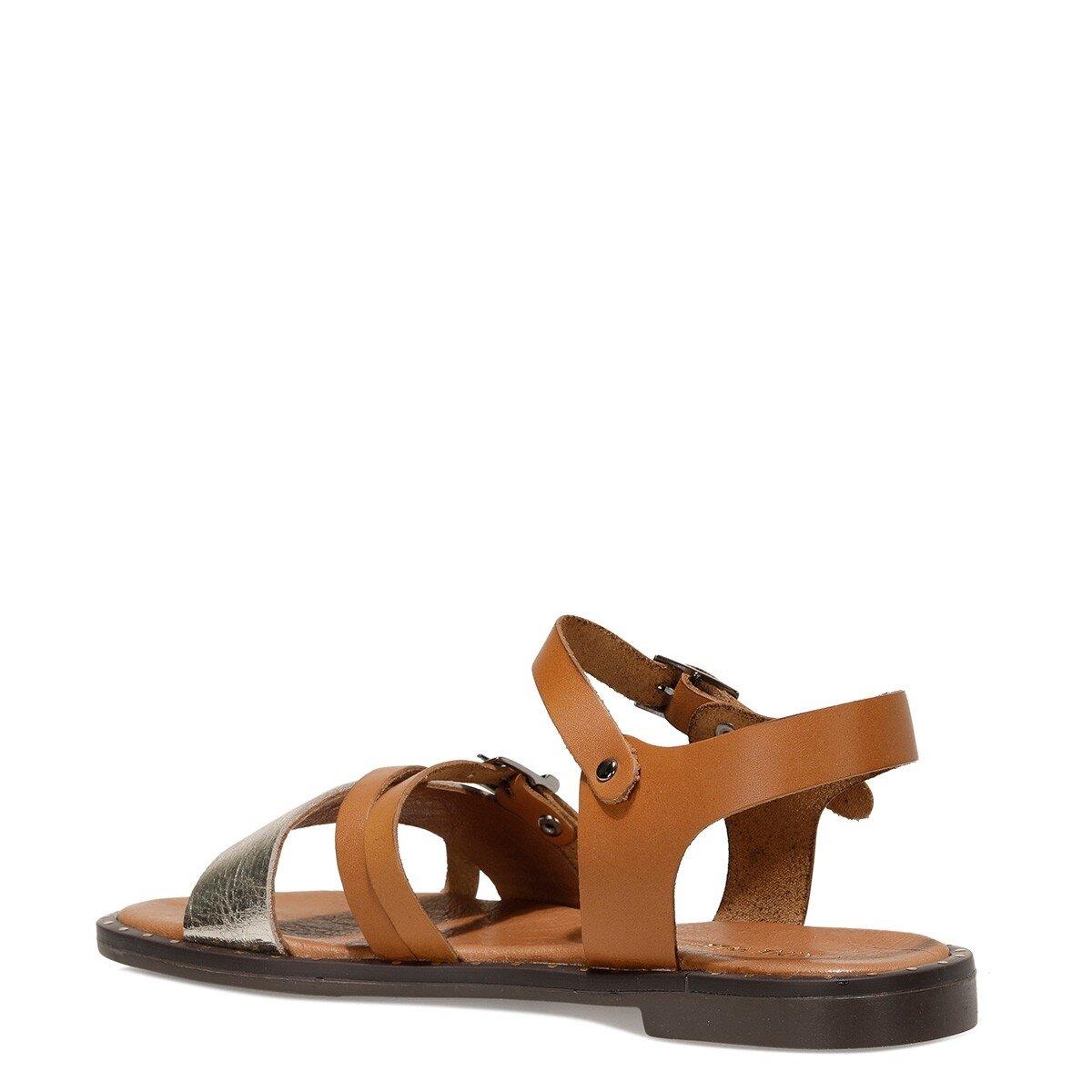 BEGOZMO 1FX Taba Kadın Düz Sandalet