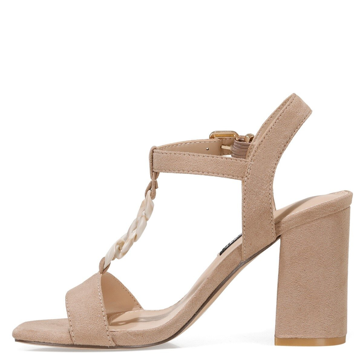 LOYAL 1FX Naturel Kadın Topuklu Sandalet