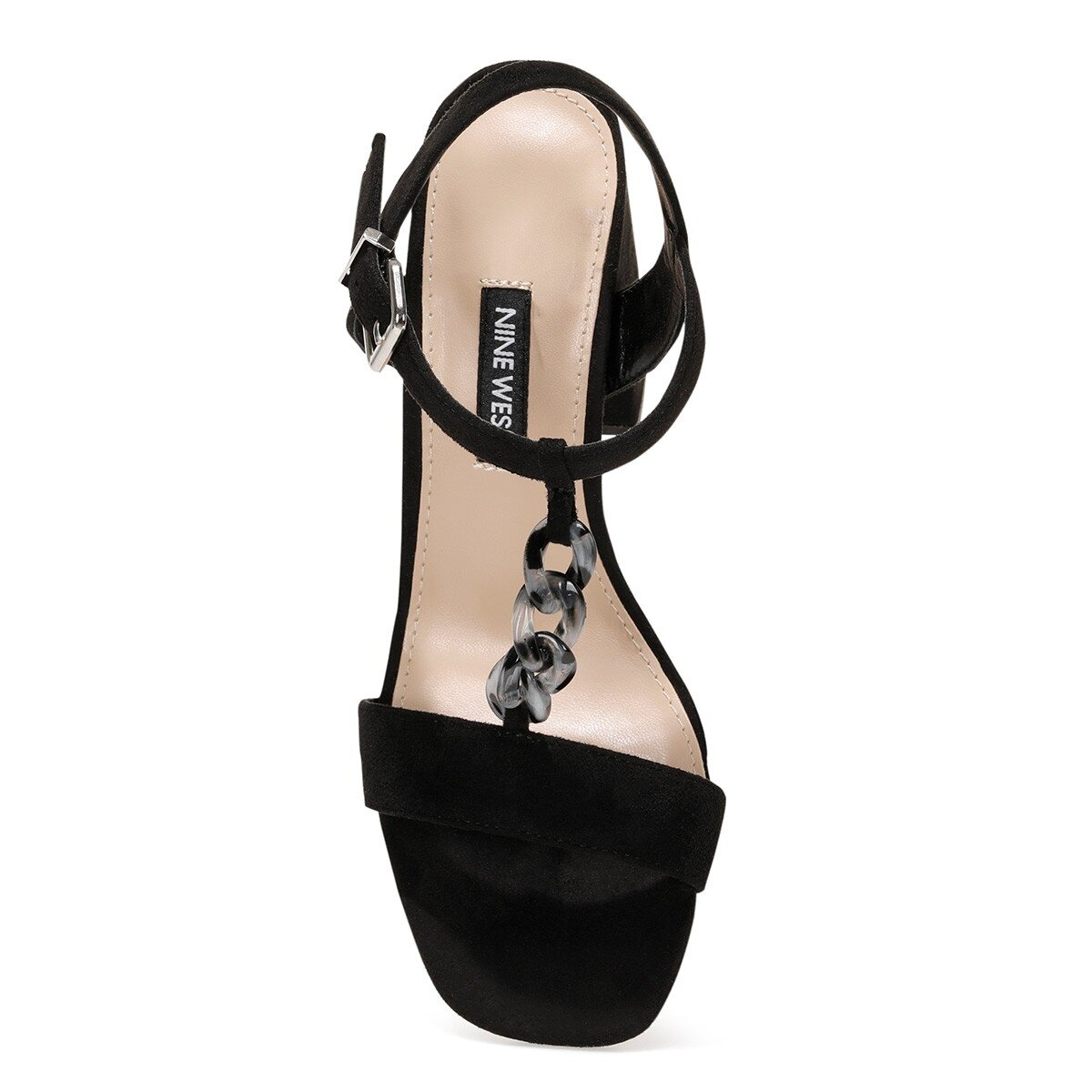 LOYAL 1FX Siyah Kadın Topuklu Sandalet