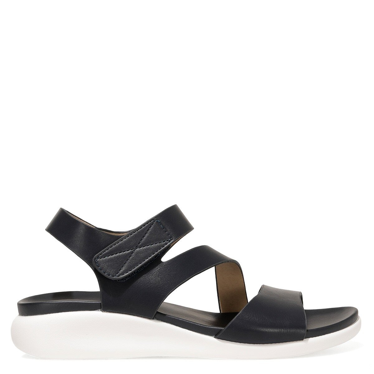 ZIZI 1FX Lacivert Kadın Düz Sandalet