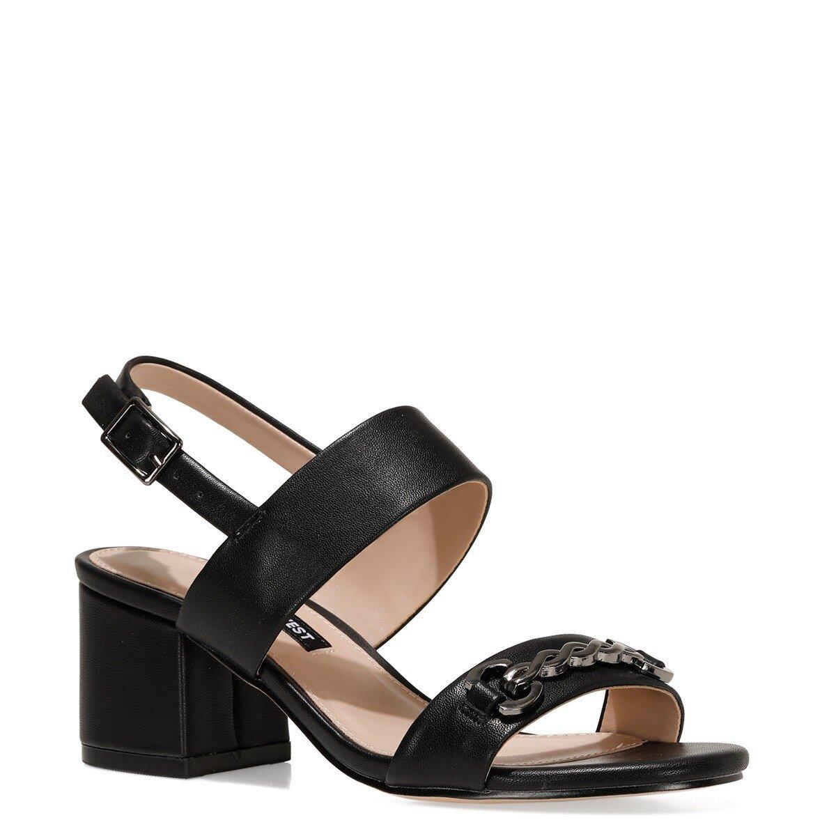 SAMARA 1FX Siyah Kadın Topuklu Sandalet