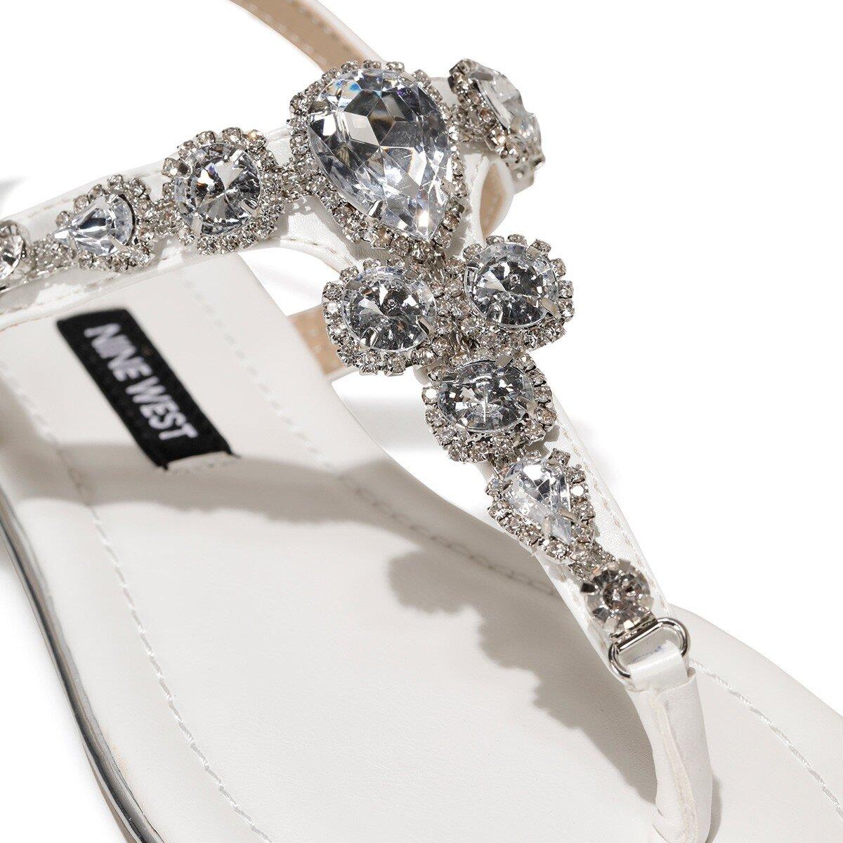 ZULI 1FX Beyaz Kadın Sandalet