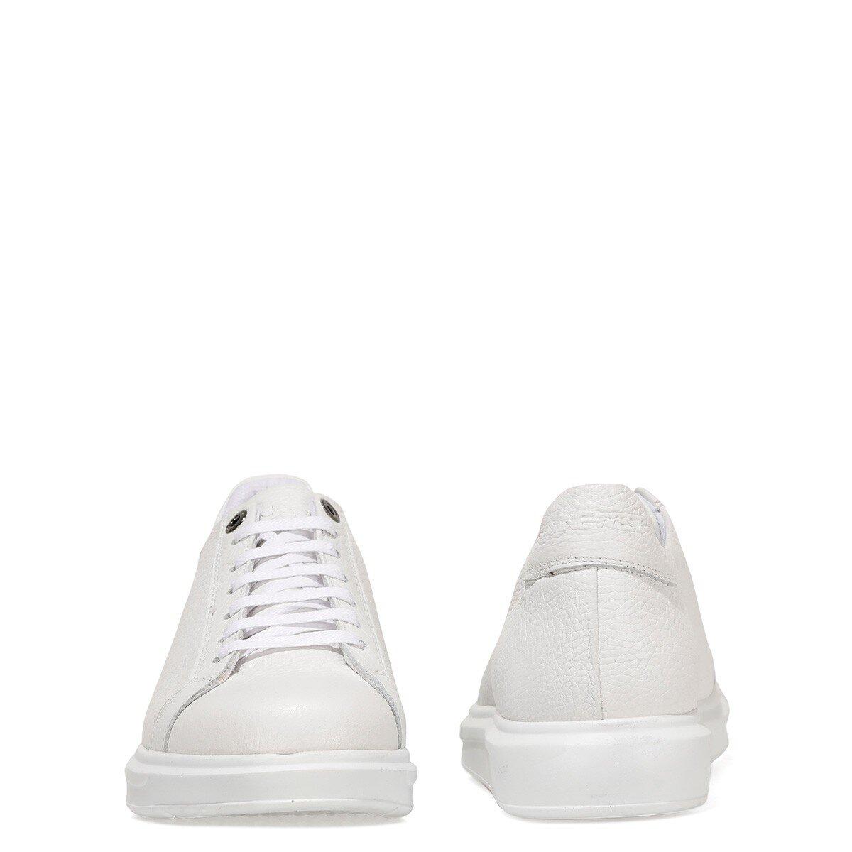 SANTEK 1FX Beyaz Erkek Kalın Tabanlı Sneaker