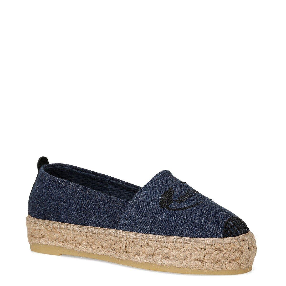 KINGDAY 1FX Mavi Kadın Espadril Ayakkabı