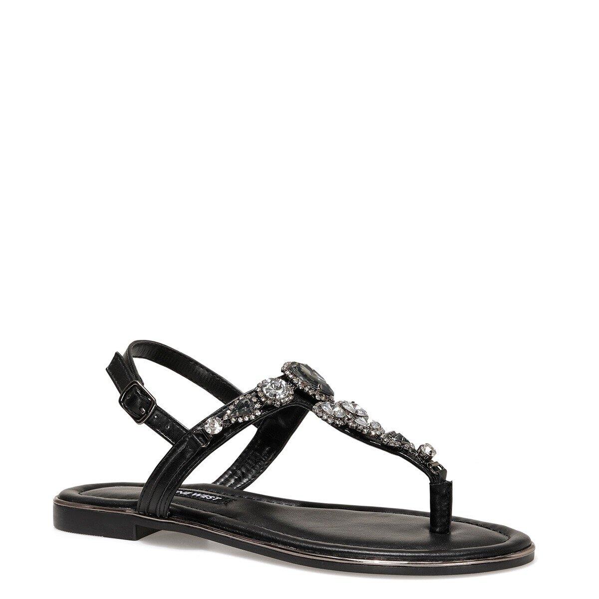 ZULI 1FX Siyah Kadın Sandalet