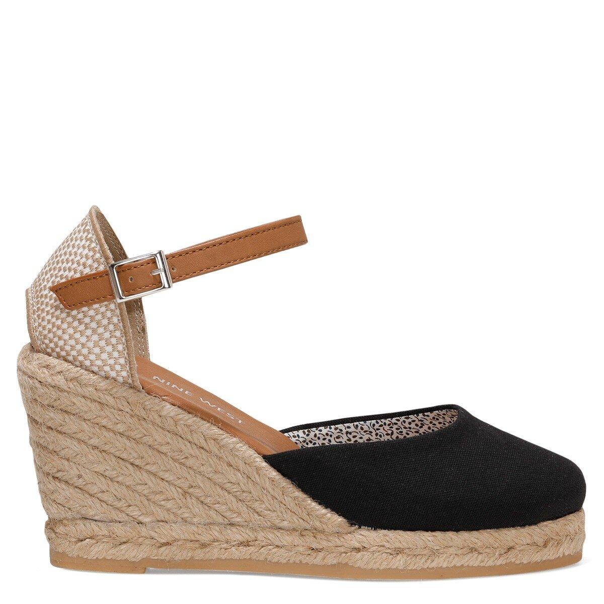ARTEMISIA 1FX Siyah Kadın Dolgu Topuk Sandalet