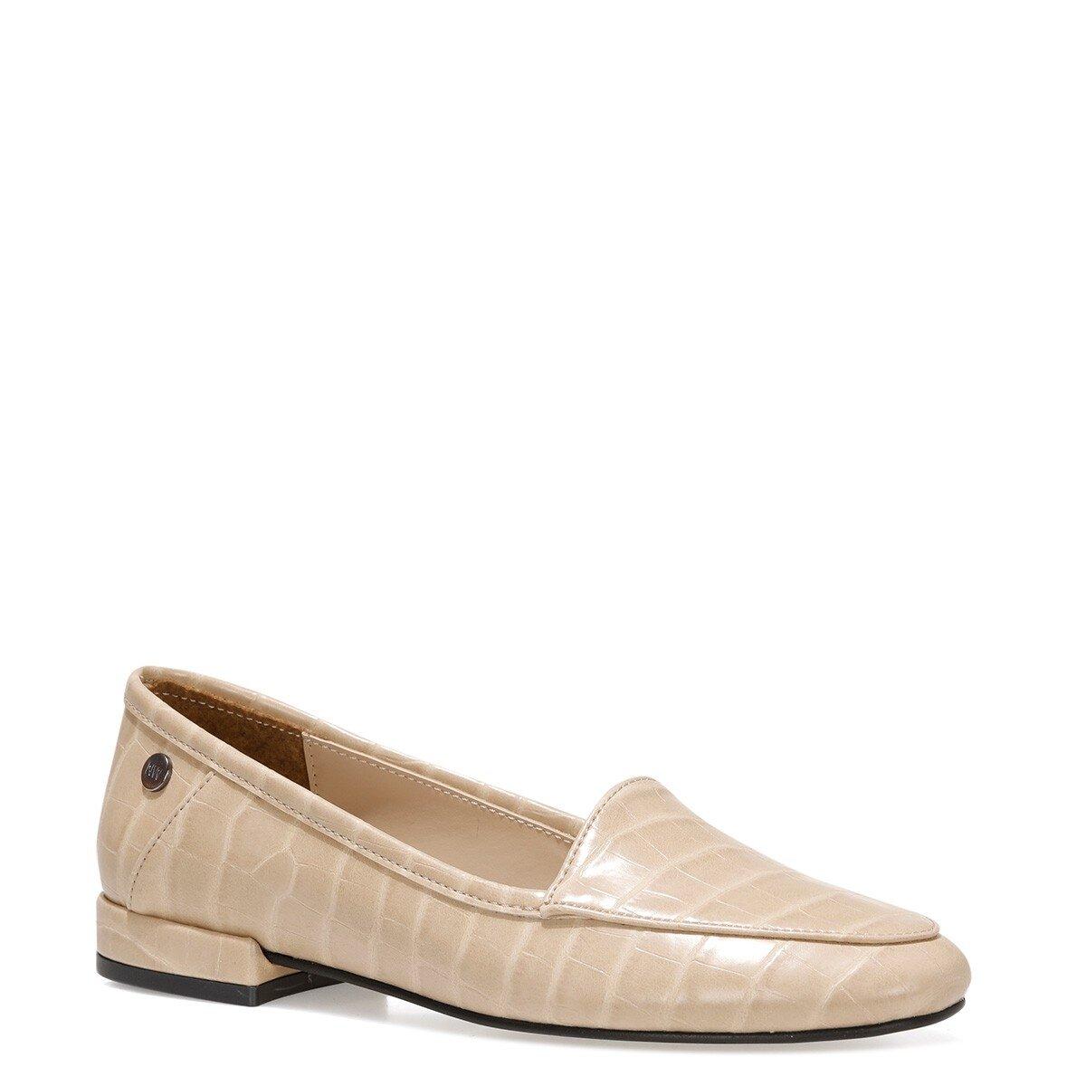 BANNA 1FX Bej Kadın Loafer Ayakkabı