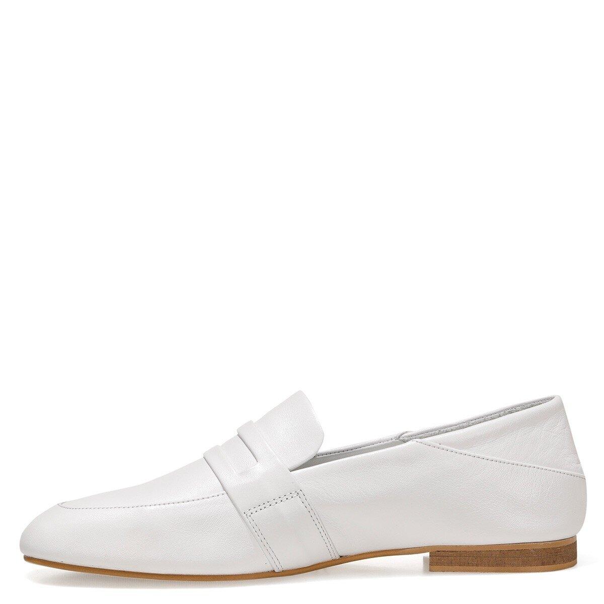 CONFINTA 1FX Beyaz Kadın Loafer Ayakkabı