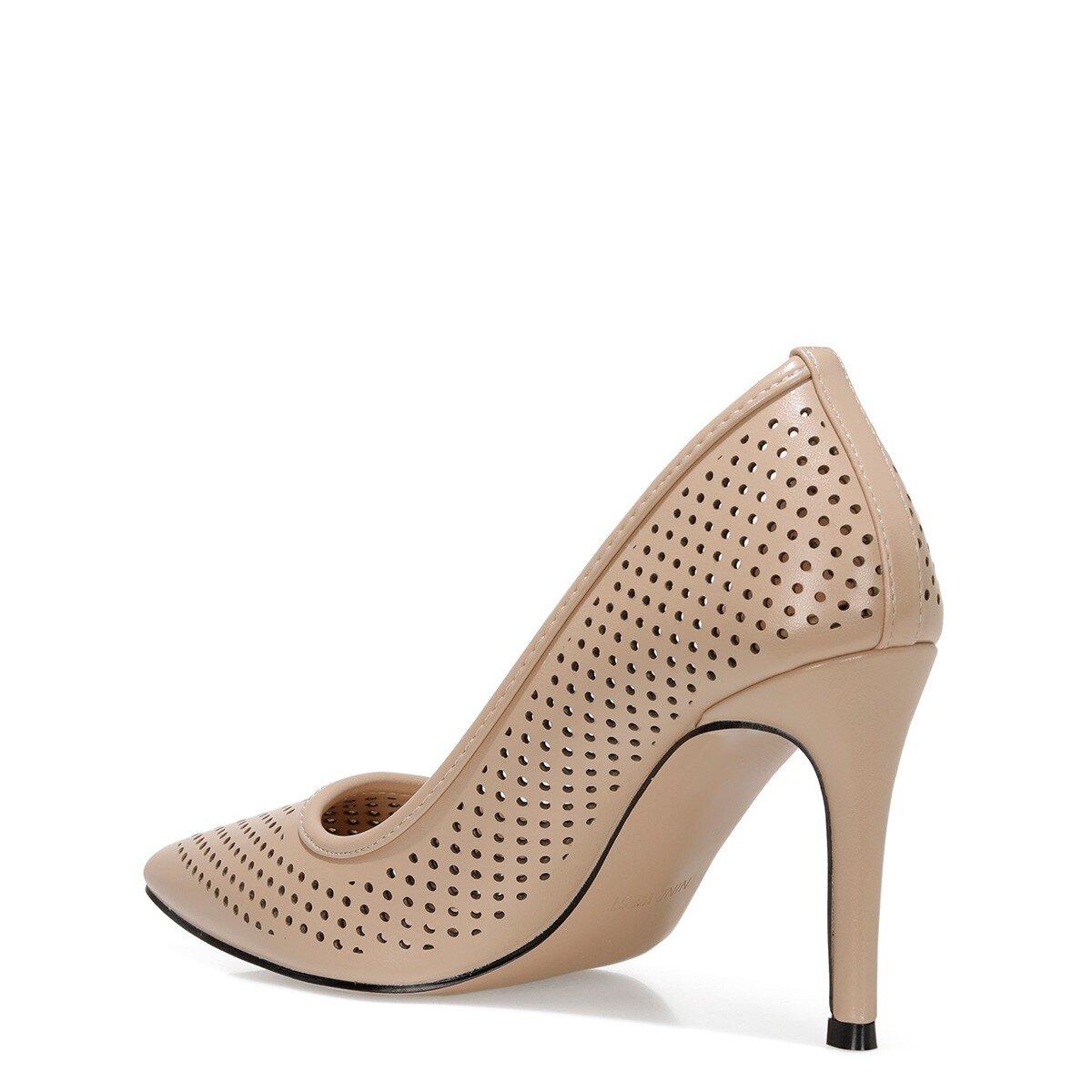 JERRIKA 1FX Naturel Kadın Topuklu Ayakkabı