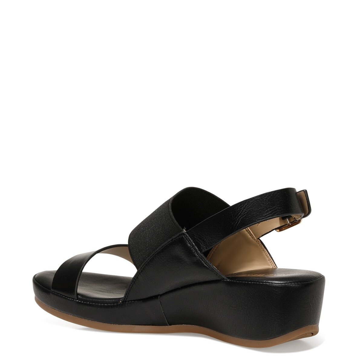 DANE 1FX Siyah Kadın Dolgu Topuklu Sandalet