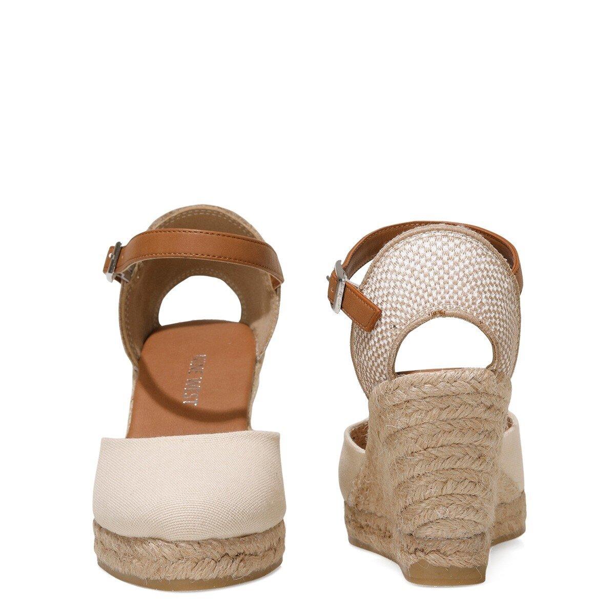 ARTEMISIA 1FX Bej Kadın Dolgu Topuk Sandalet