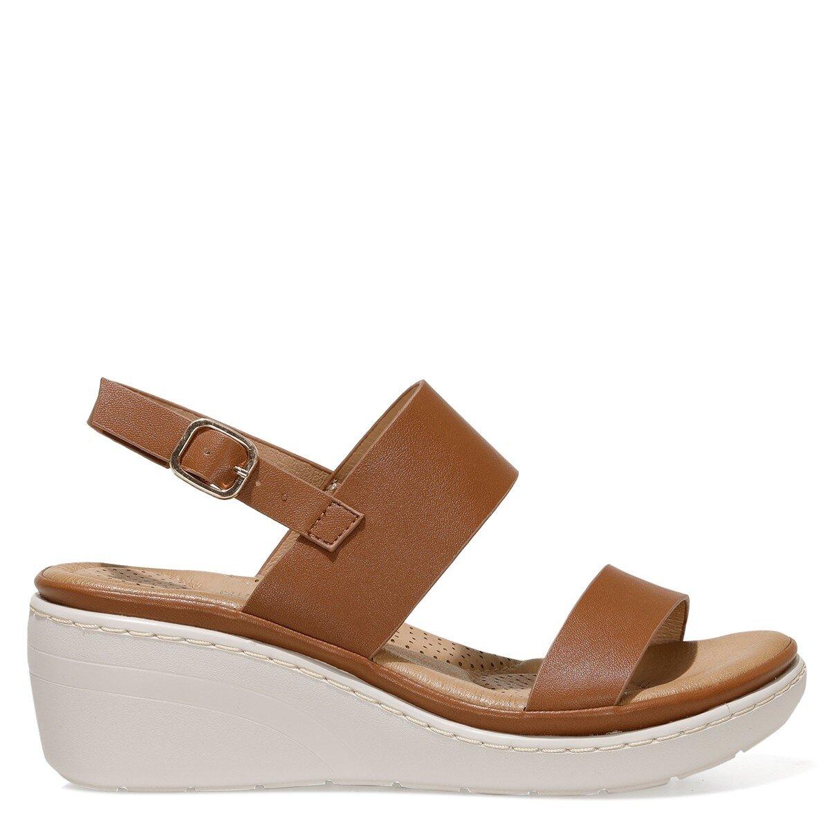 MAISIE 1FX Kahverengi Kadın Dolgu Topuklu Sandalet