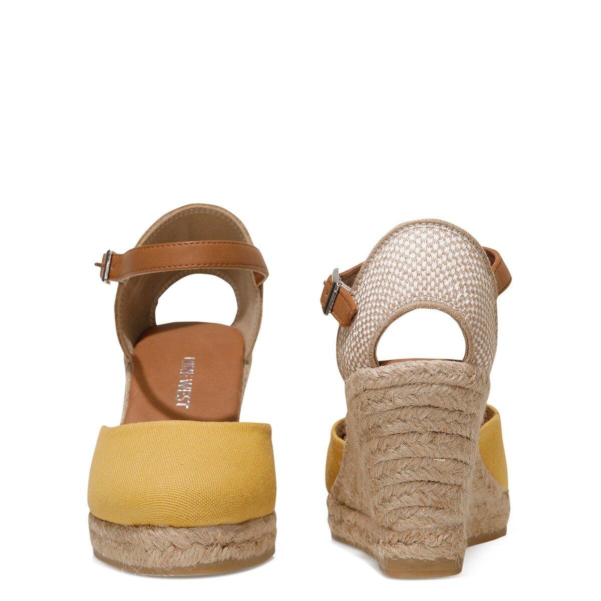 ARTEMISIA 1FX Sarı Kadın Dolgu Topuklu Sandalet