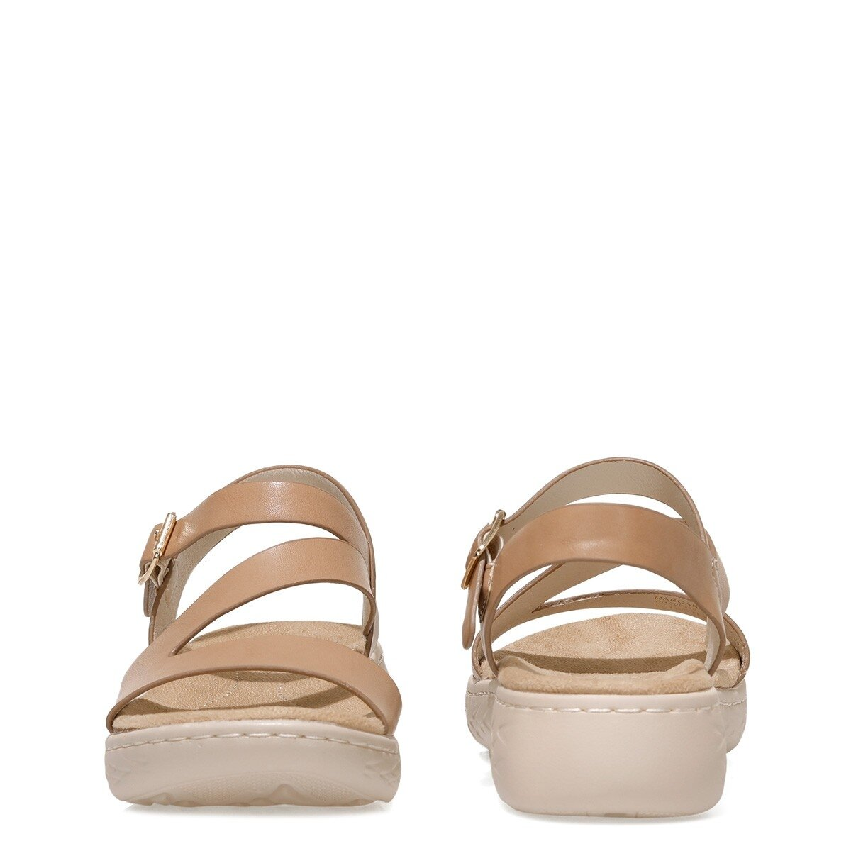 MARGARET 1FX Naturel Kadın Kalın Tabanlı Sandalet