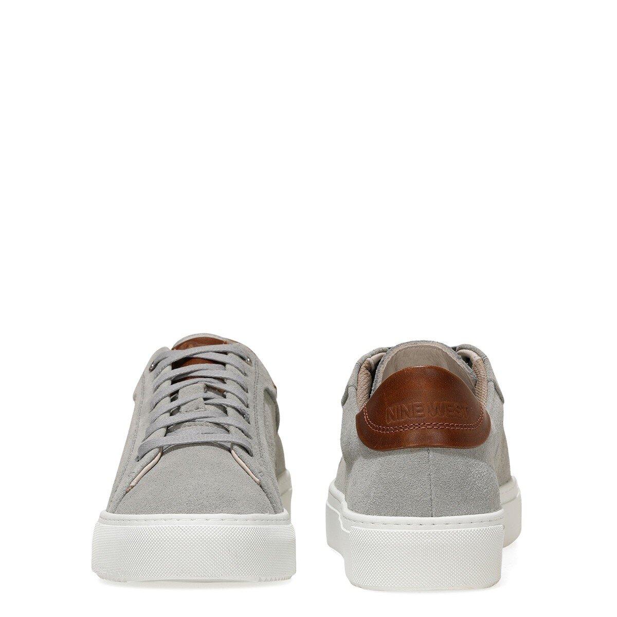 POLLE 1FX Gri Erkek Kalın Tabanlı Sneaker