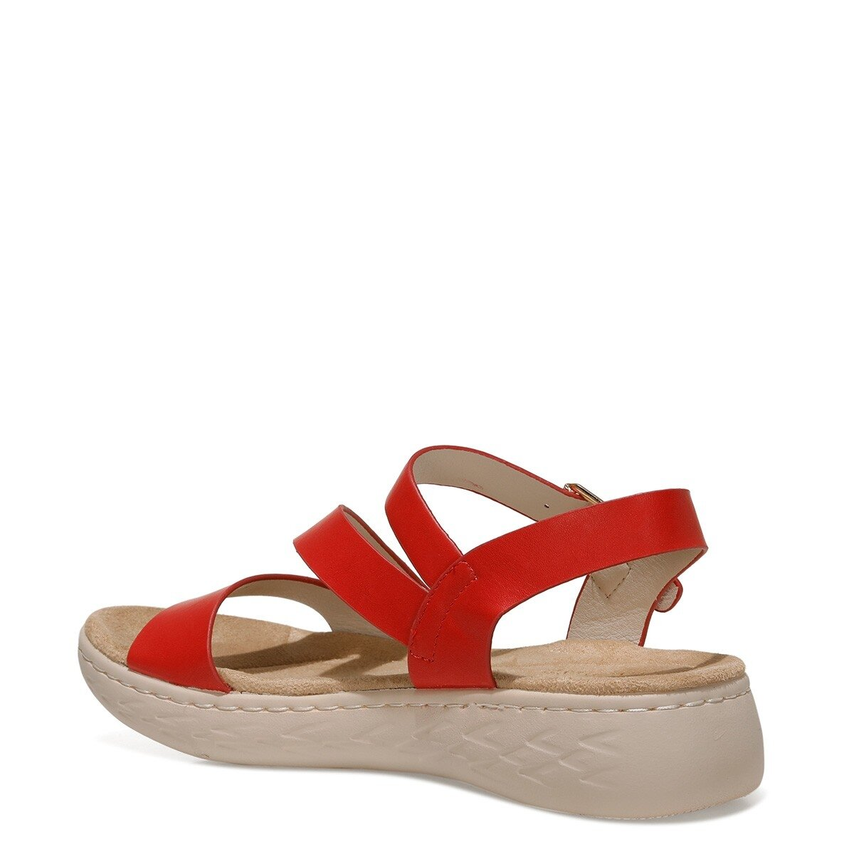MARGARET 1FX Kırmızı Kadın Kalın Taban Sandalet
