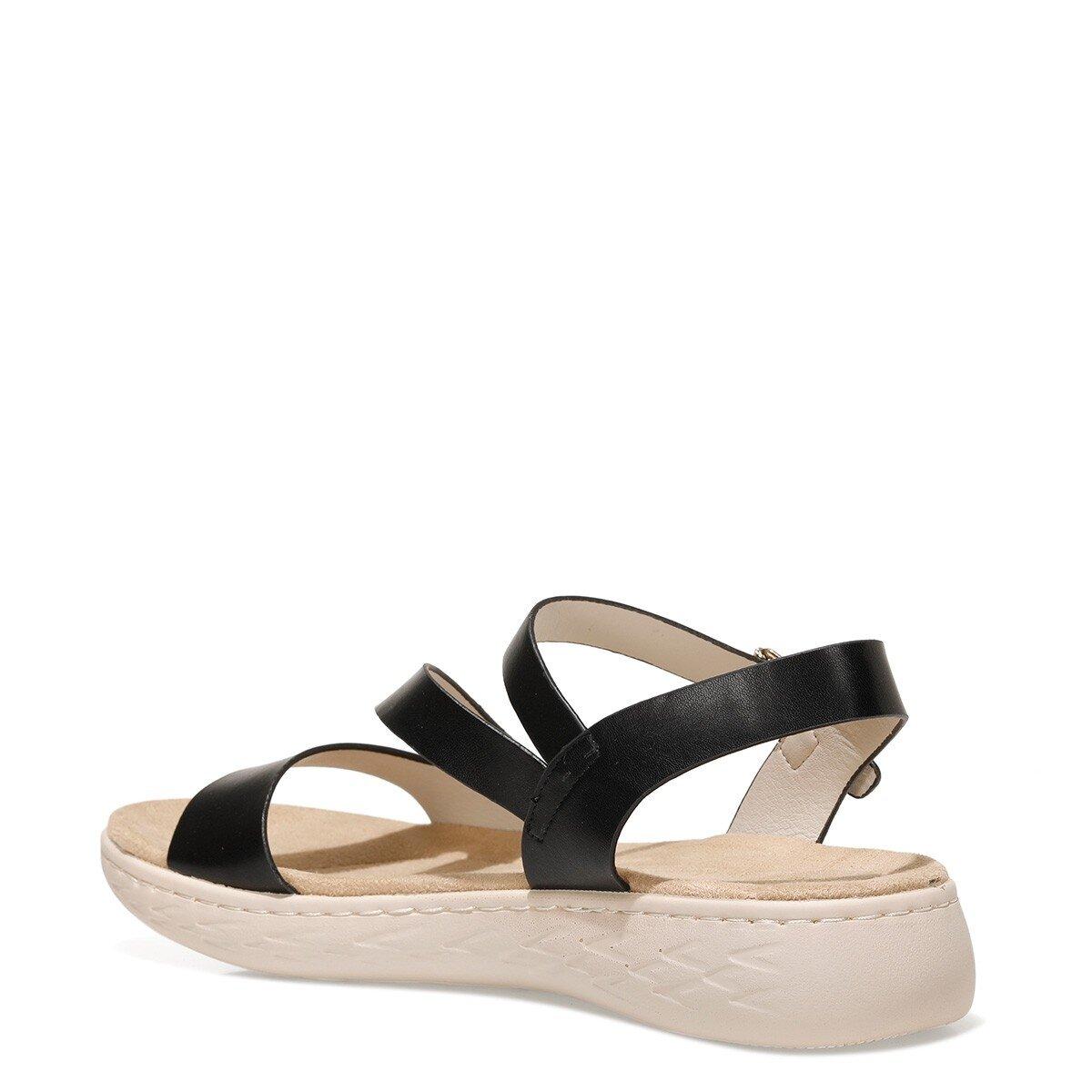 MARGARET 1FX Siyah Kadın Kalın Taban Sandalet