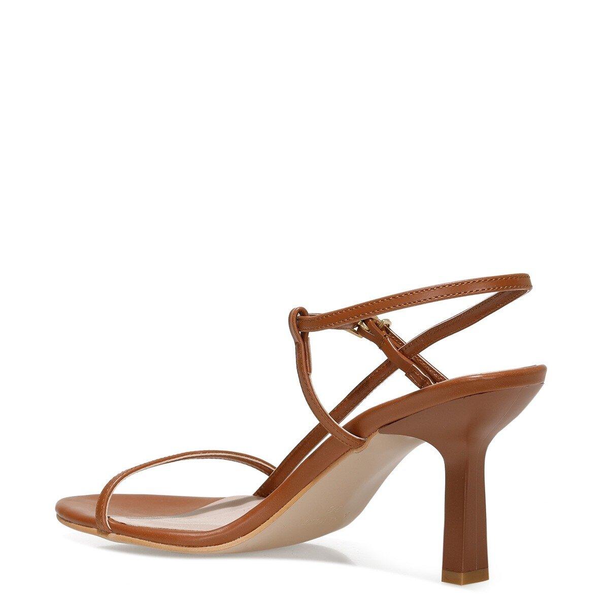 REBELL2 1FX Taba Kadın Topuklu Sandalet