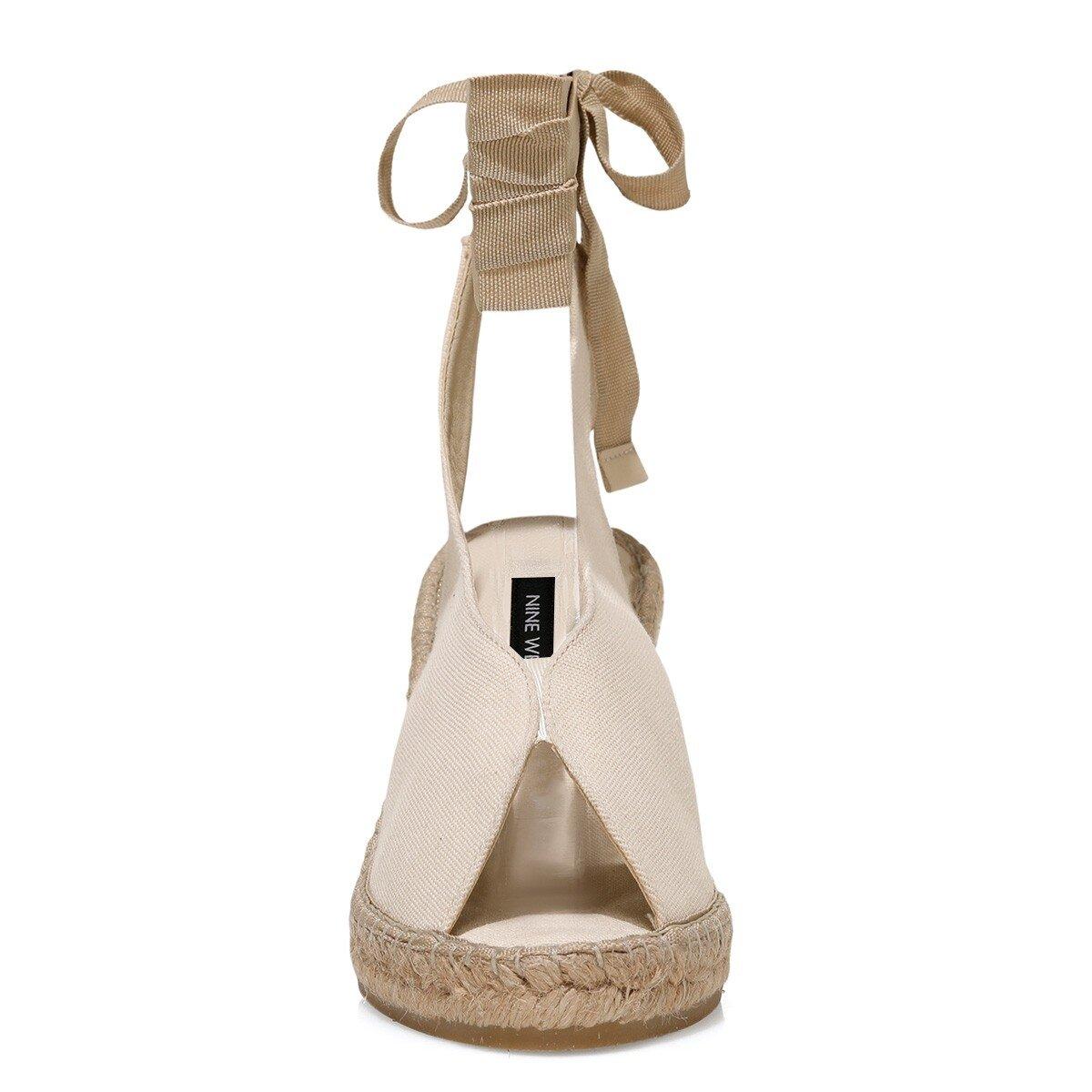 PAOLA 1FX Bej Kadın Dolgu Topuklu Sandalet