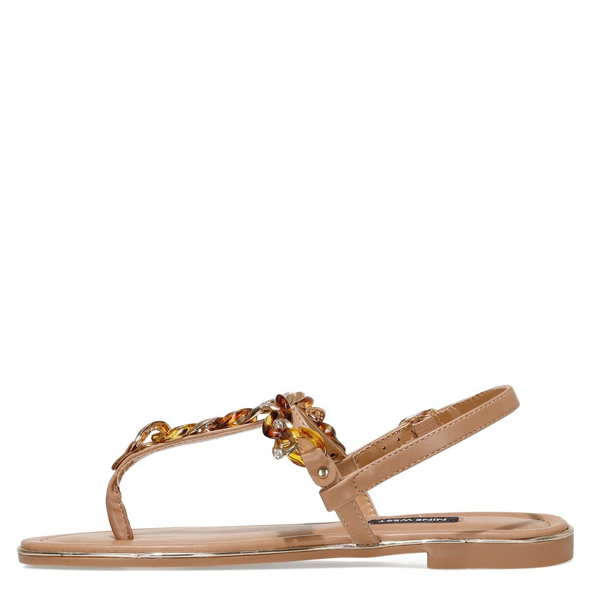 ZEONA 1FX Camel Kadın Düz Sandalet