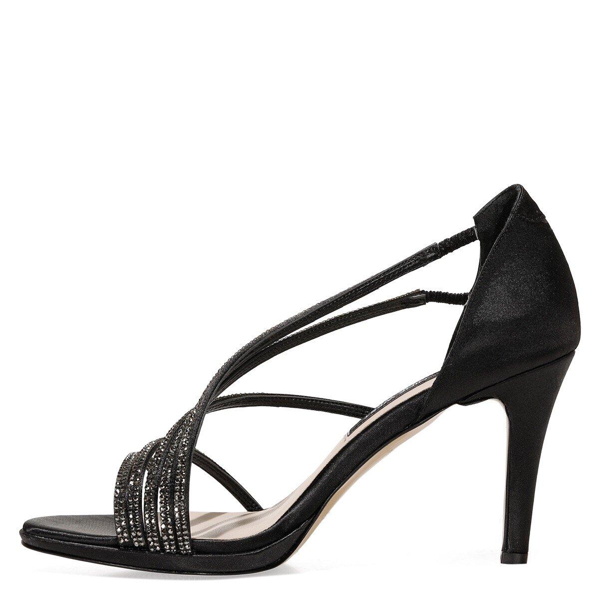 CERNNA 1FX Siyah Kadın Topuklu Ayakkabı