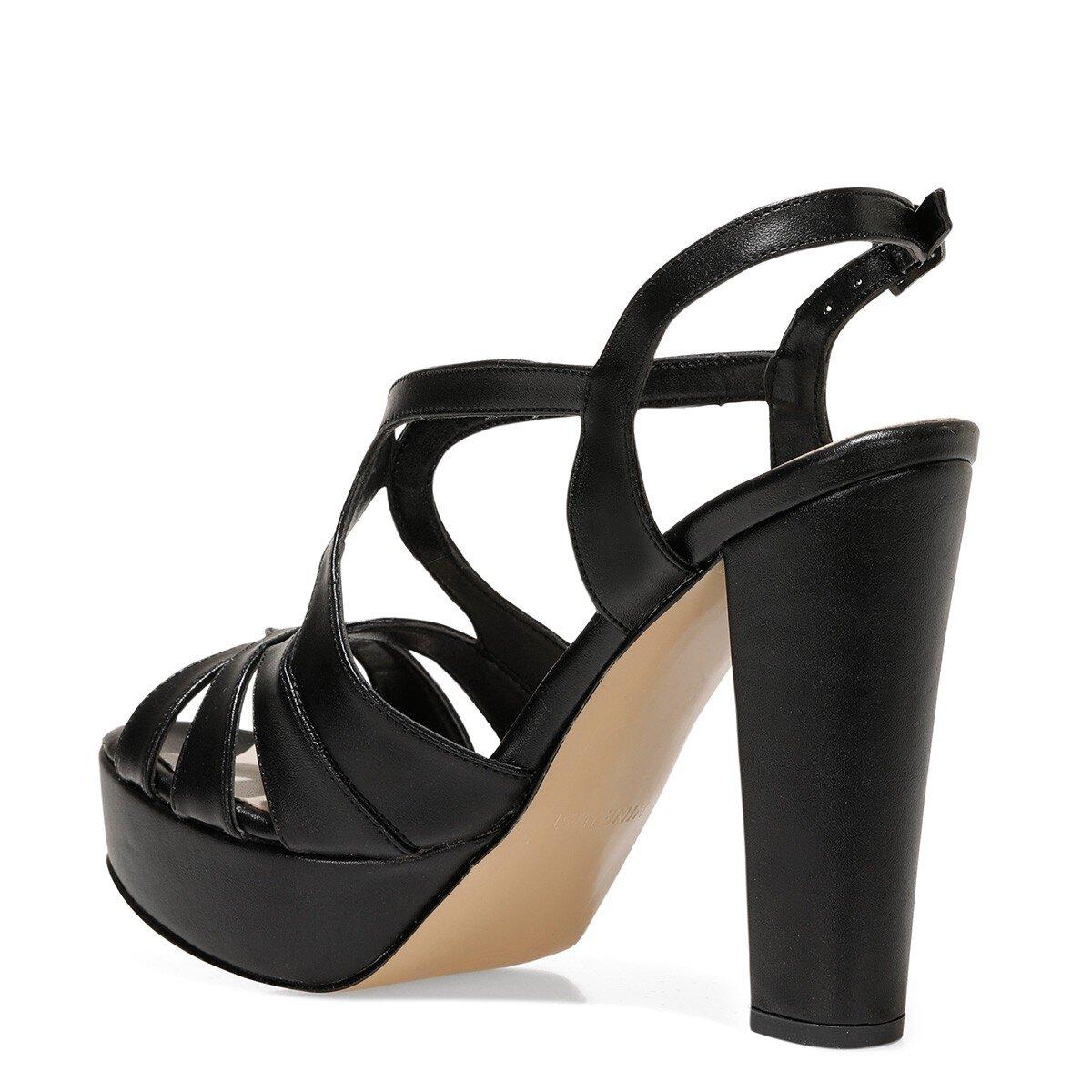 SINDY 1FX Siyah Kadın Topuklu Sandalet