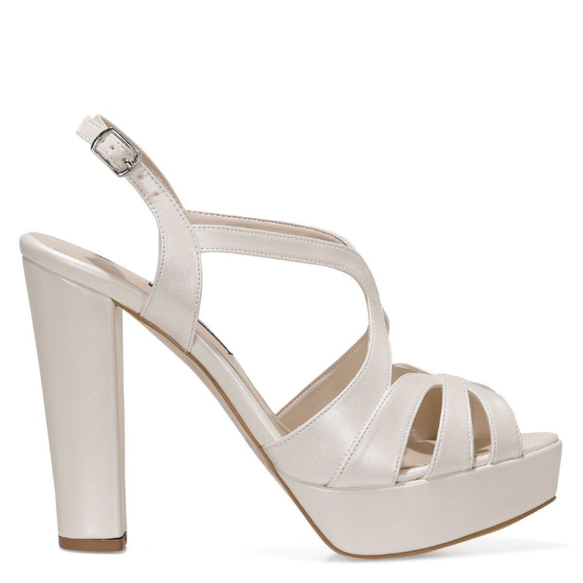 SINDY 1FX KIRIKBEYAZ Kadın Topuklu Ayakkabı