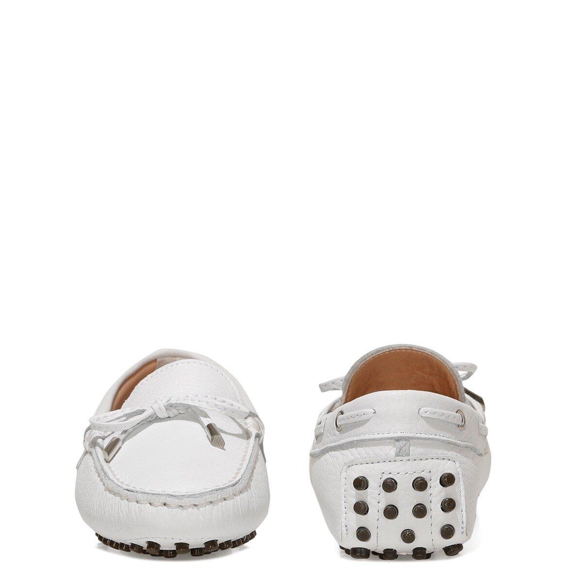 HOLT 1FX Beyaz Kadın Loafer Ayakkabı