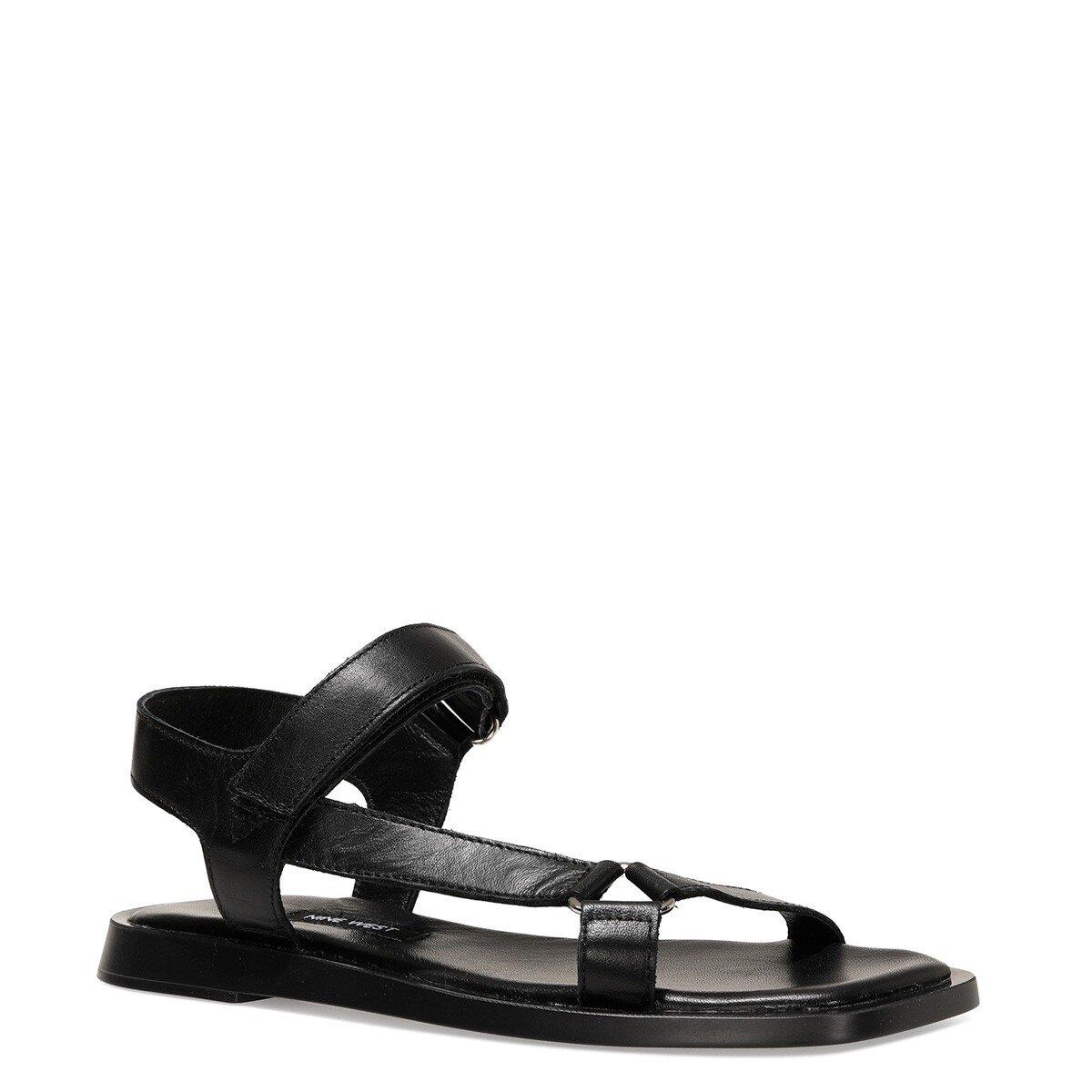 TRIP 1FX Siyah Kadın Düz Sandalet