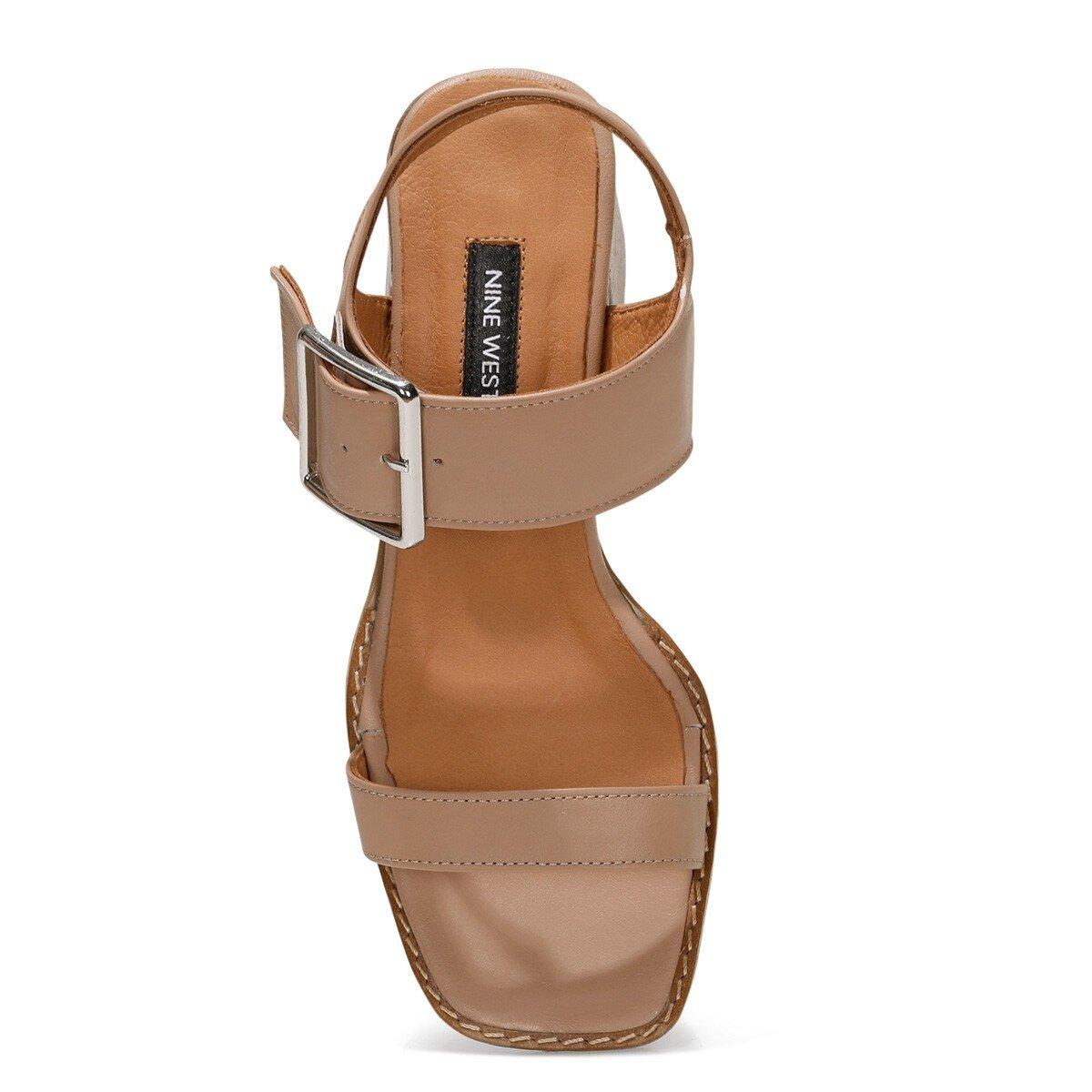 SUMMEL 1FX Taba Kadın Topuklu Sandalet