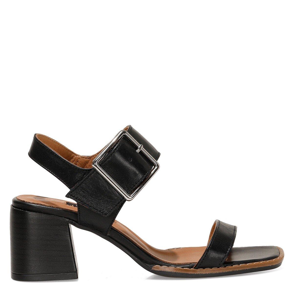 SUMMEL 1FX Siyah Kadın Topuklu Sandalet
