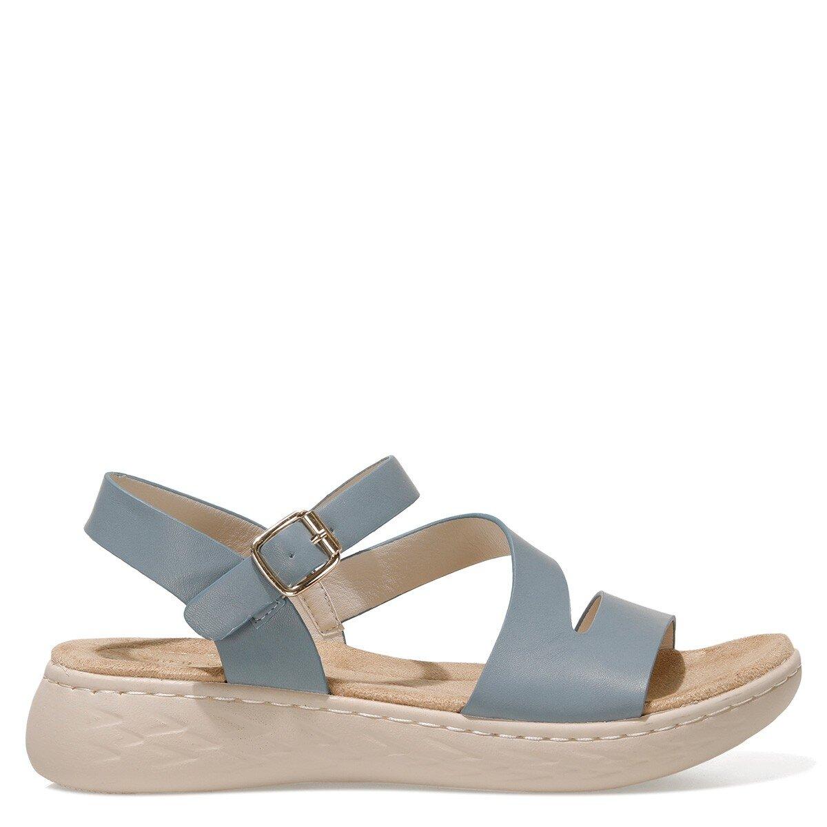 MARGARET 1FX Mavi Kadın Kalın Taban Sandalet