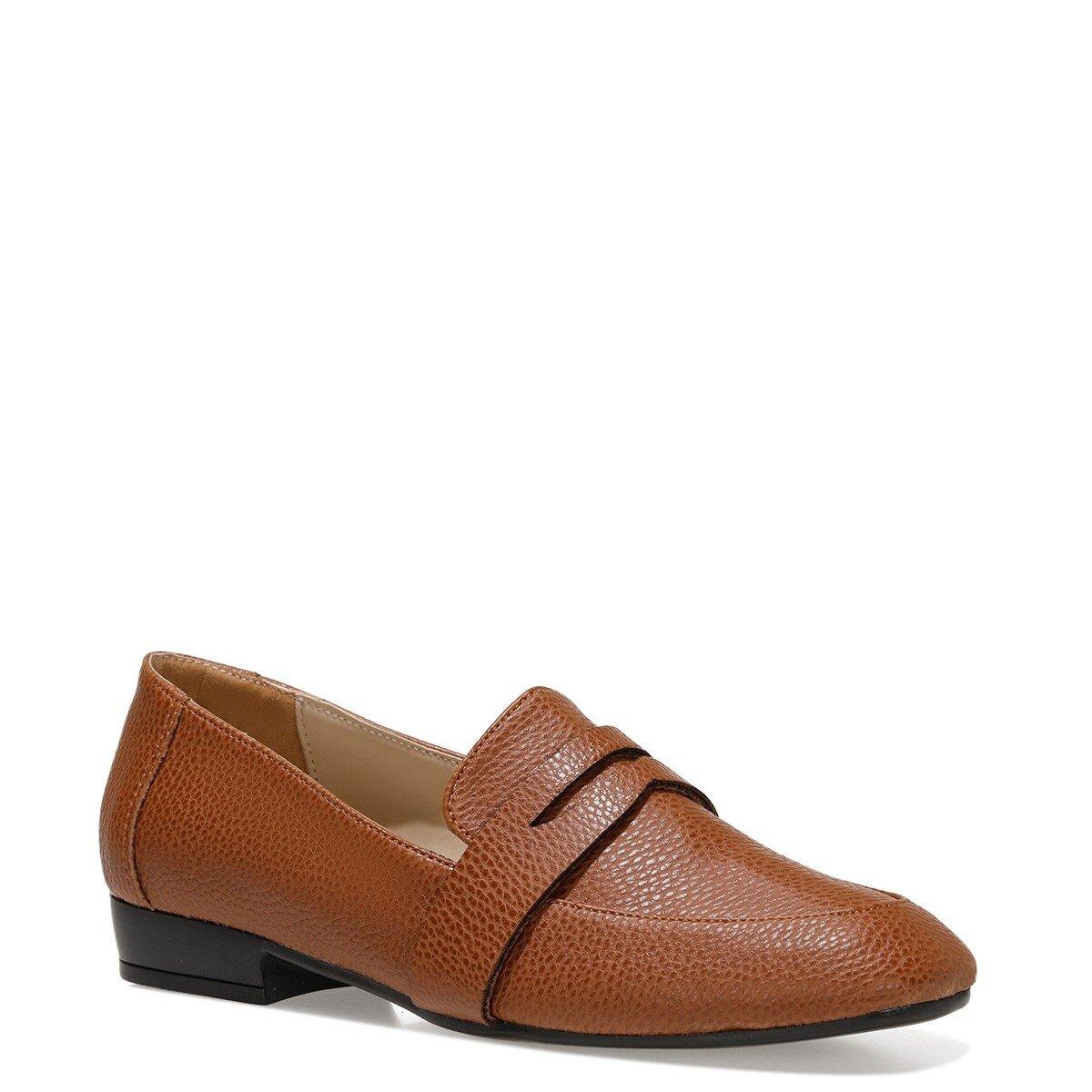 RONE 1FX Taba Kadın Loafer Ayakkabı