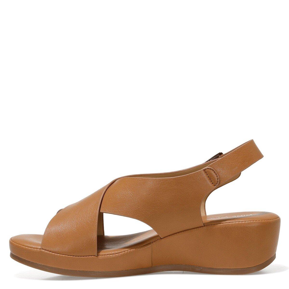 DANBIA 1FX Taba Kadın Dolgu Topuklu Sandalet
