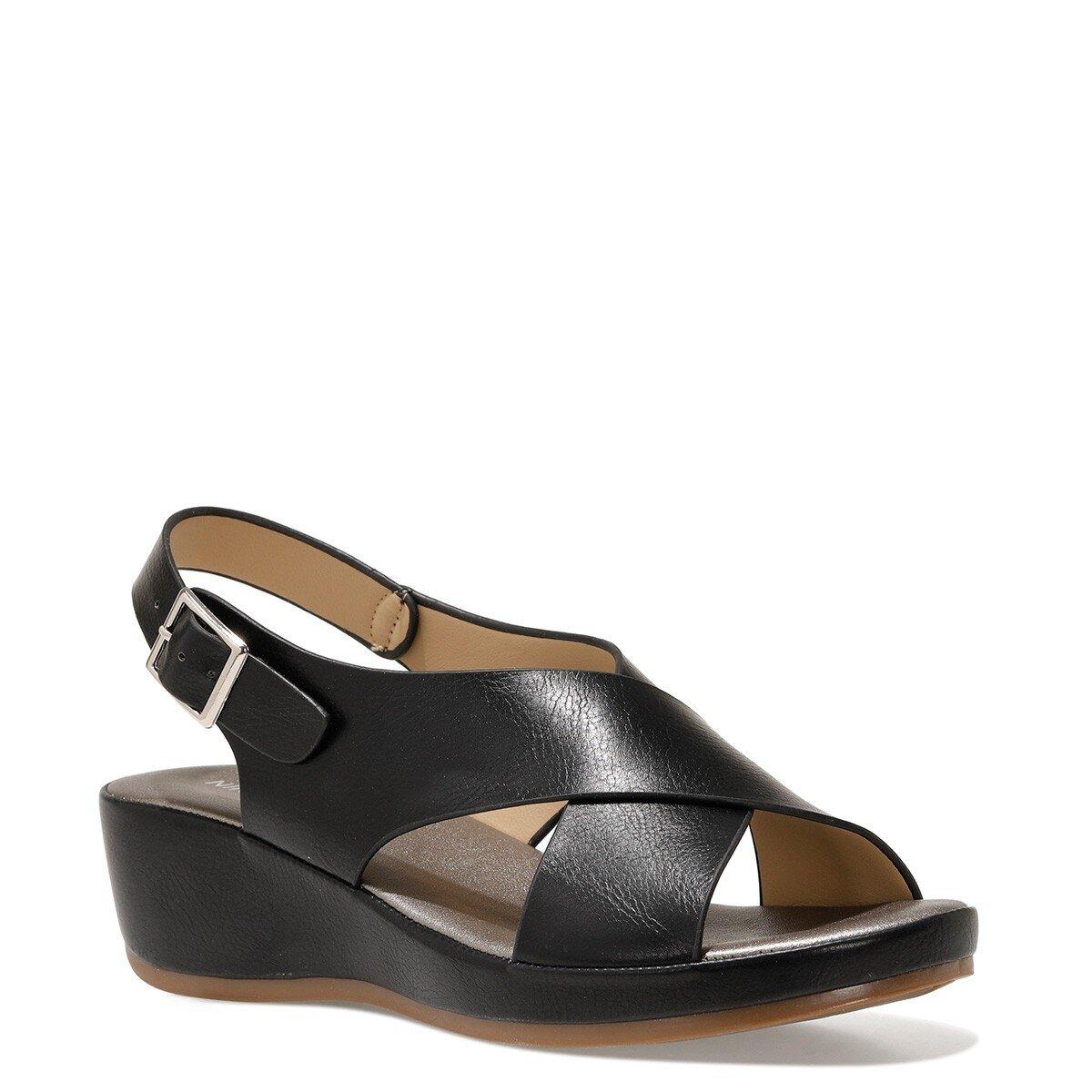 DANBIA 1FX Siyah Kadın Dolgu Topuklu Sandalet