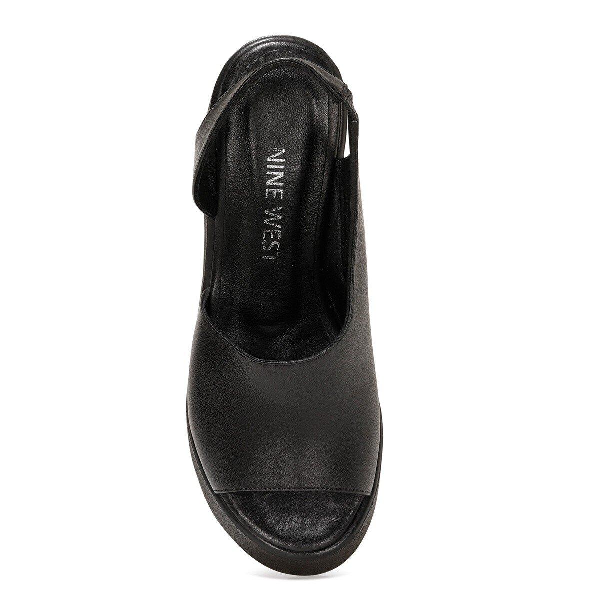 SANTEYOUNG 1FX Siyah Kadın Dolgu Topuklu Sandalet